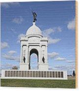 Pennsylvania Memorial At Gettysburg Battlefield Wood Print by Brendan Reals