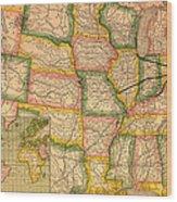 Pennsylvania Railroad Map 1879 Wood Print