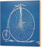 Penny-farthing 1867 High Wheeler Bicycle Blueprint Wood Print