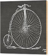 Penny-farthing 1867 High Wheeler Bicycle Patent - Gray Wood Print