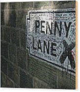 Penny Lane Wood Print