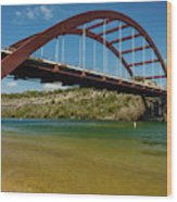 Pennybacker 360 Bridge, Austin, Texas Wood Print