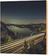 Pennybacker Bridge Wood Print