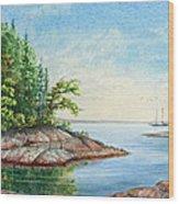 Penobscot Inlet Wood Print