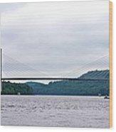 Penobscot Narrows Bridge Wood Print