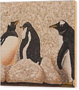 Penquin Family Wood Print