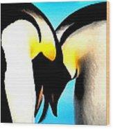 Penquin Love Dance Wood Print