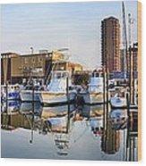 Pensacola Beach Harbor Panoramic Wood Print