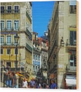 Pensao Geres - Lisbon 2 Wood Print by Mary Machare