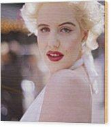 Beauty Of Marilyn Monroe Wood Print