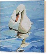 Pensive Swan Wood Print