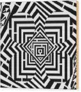 Penta Spheres Maze  Wood Print