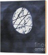 Pentacle Moon Wood Print