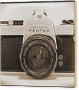 Pentax Spotmatic IIa Camera Wood Print by Mike McGlothlen