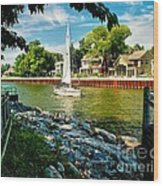 Pentwater Channel Michigan Wood Print