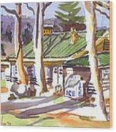 Penuel Lodge In Winter  Wood Print