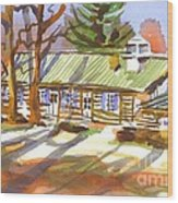 Penuel Lodge In Winter Sunlight Wood Print