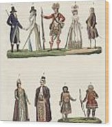 People From Europe Wood Print