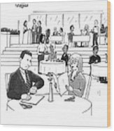 People In A Busy Restaurant Wood Print by Lee Serenethos