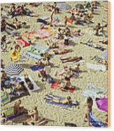 People In The Beach Wood Print