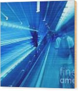 People Rush In Subway. Wood Print