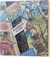 People's Wall Berkeley Ca 1977 Wood Print