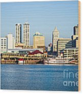 Peoria Skyline And Downtown City Buildings Wood Print