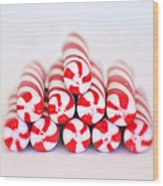 Peppermint Twist - Candy Canes Wood Print