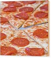Pepperoni Pizza Wood Print