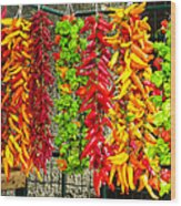 Peppers For Sale Wood Print