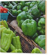 Peppers From The Farm Nj Wood Print