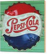 Pepsi Cap Wood Print by David Lee Thompson