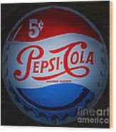Pepsi Cap Sign Wood Print