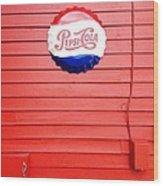 Pepsi-cola Wood Print by Joan Meyland