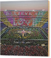 Pepsi Super Bowl 50 Halftime Show Wood Print