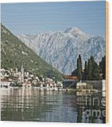 Perast In Kotor Bay Montenegro Wood Print