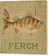 Perch On Burlap Wood Print