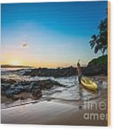 Perfect Ending - Beautiful And Secluded Secret Beach In Maui Wood Print