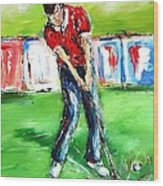 Ideal Gift For Golfing Husband Wood Print