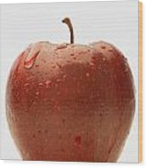 Perfect Red Apple Wood Print