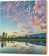 Perfect Sunset Clouds Wood Print