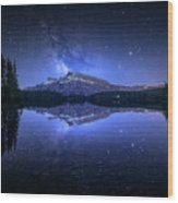 Perfect Two Jack Lake Reflection Wood Print