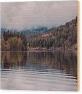 Perfectly Cloudy Lake Wood Print