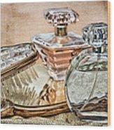 Perfume Bottle Ix Wood Print