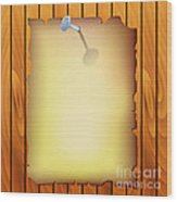 Pergamen On Wood Texture Wood Print