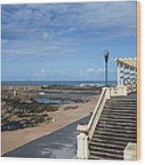 Pergola Da Foz At Praia Do Molhe Beach In Porto Wood Print
