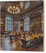 Periodical Room At The New York Public Library Wood Print