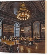 Periodicals Room New York Public Library Wood Print