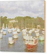 Perkins Cove Lobster Boats Maine Wood Print
