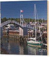 Perkins Cove Ogunquit Maine Wood Print